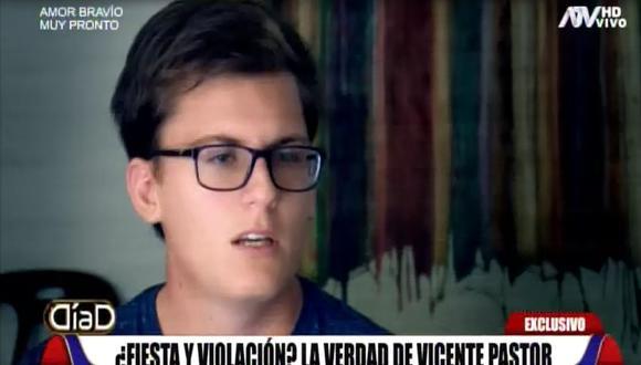 Vicente Pastor fue acusado de violación por la adolescente estadounidense Mackenzie Severns. (Captura: Día D)