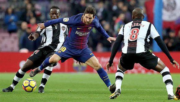 Barcelona, guiado por Messi, vence 3-0 al Levante y es firme puntero (VIDEO)