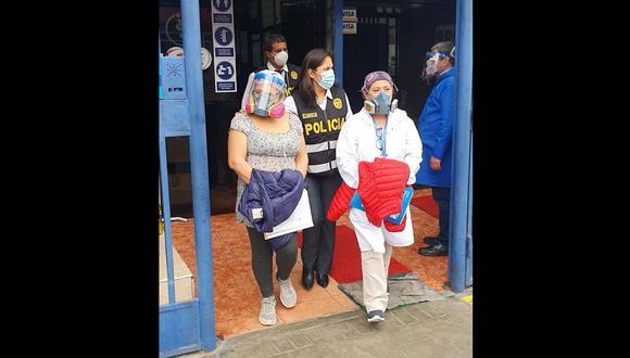 Las detenidas fueron trasladadas a la sede de la Policía Fiscal. (Foto: Policía Nacional)