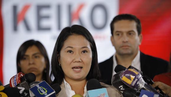 Keiko Fujimori indicó que no distraerá su atención del conteo de votos. (Foto: Joel Alonzo/ @photo.gec)