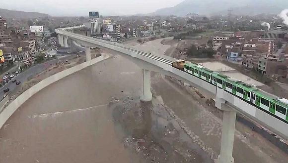Caudal del río Rímac aumenta y ¿pone en riesgo la Línea 1 del Metro de Lima?