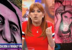 Magaly Medina ningunea mural de Las Caras de Atahualpa   VIDEO