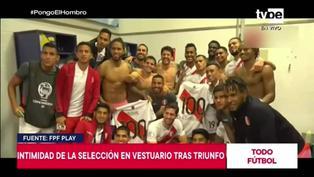 Copa América: Selección Peruana celebra en los vestuarios tras derrotar a Colombia