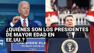 Conoce a los presidentes de mayor edad de Estados Unidos en sus tomas de posesión