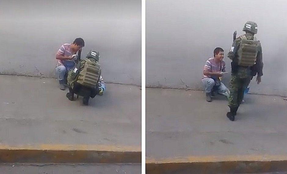 Facebook: el tierno gesto de un soldado mexicano que conmueve a millones (VIDEO)