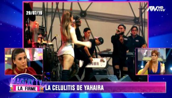 La cantante Yahaira Plasencia agregó que su público no está pendiente de las imperfecciones de su figura. (Captura de pantalla)