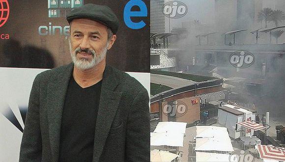 Carlos Alcántara: se creyó que estaba atrapado en incendio de Larcomar, pero respondió esto