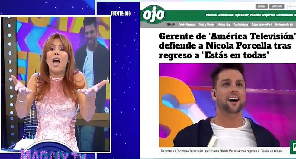 """Magaly Medina contra retorno de Nicola Porcella: """"En América alcahuetean todo"""" │ VIDEO"""