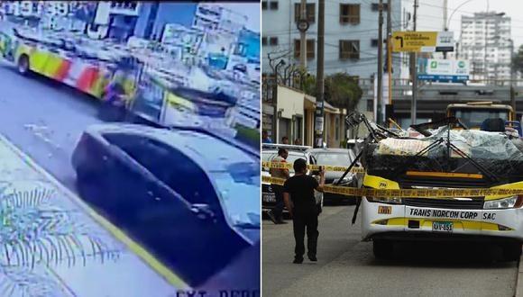 El accidente se produjo en la cuadra 29 de la av. Brasil. (Foto: Captura/Canal N)