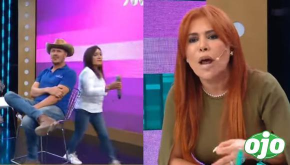 Magaly Medina y Flor de Huaraz volvieron a tener una acalorada discusión en vivo. (Composición: Instagram / captura ATV)