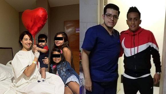 Christian Cueva ya está al lado de su esposa tras parto de emergencia | FOTO