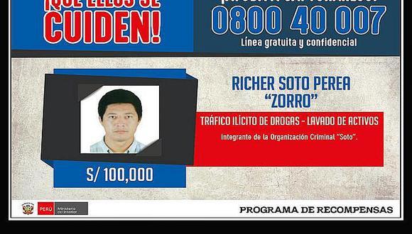 Programa de recompensas: captura a cabecilla de mafia que abastecía droga a cartel mexicano