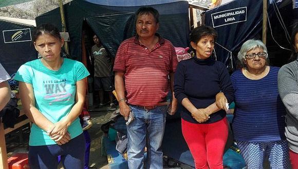 Chosica: damnificados viven en carpas tras cuatro meses de huaicos e inundaciones