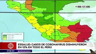 Casos de COVID-19 disminuyen un 12% en todo el Perú según Essalud