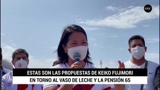 Keiko Fujimori expone sus propuestas en torno al Vaso de Leche y Pensión 65