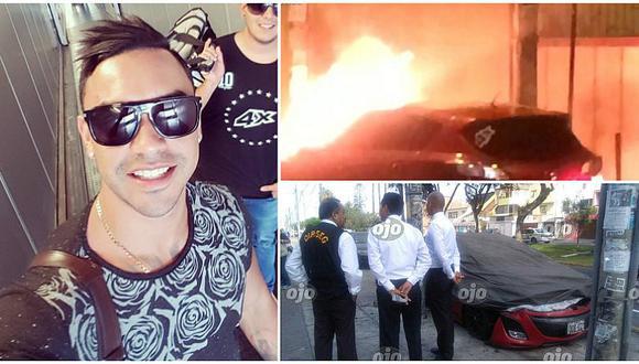 Diego Chávarri: ¿Por qué incendiaron su auto al frente de su casa? (FOTOS Y VIDEO)