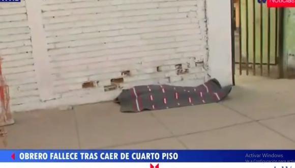 La muerte del obrero Wilber Barrial Córdova (37)  fue instantánea. (TV Perú)