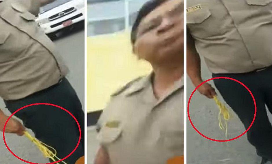 Policía castiga a limpiador de carros a latigazos en Chimbote | VIDEO