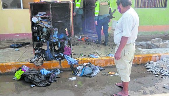 Ica: los muebles, la ropa de los menores, materiales de estudio, entre otros accesorios quedaron calcinados a causa de las llamas. (Foto: GEC)