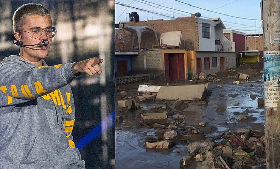 Justin Bieber hizo donación para damnificados de Perú