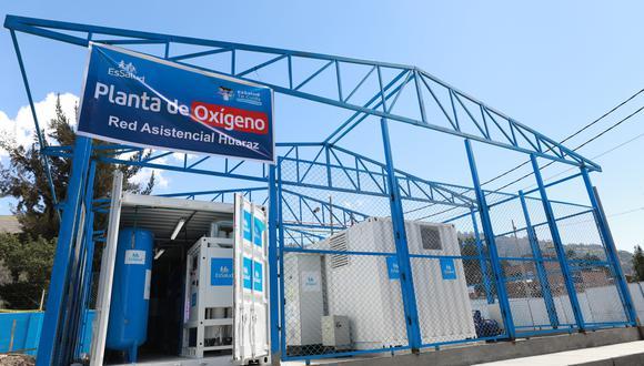 Áncash: una comitiva recorrió la nueva área de las plantas de oxígeno medicinal de alta tecnología del Hospital II Huaraz. (Foto. Essalud)