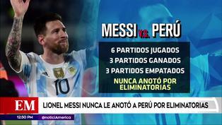 Messi nunca le anotó a la 'Blanquirroja' por Eliminatorias