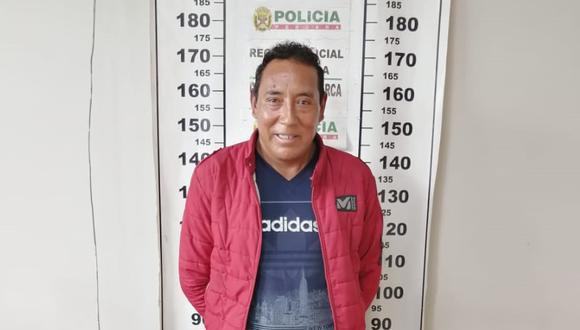 Cajamarca. Segundo Tapia era buscado por la Interpol acusado de violar a una niña en Ecuador. (PNP)