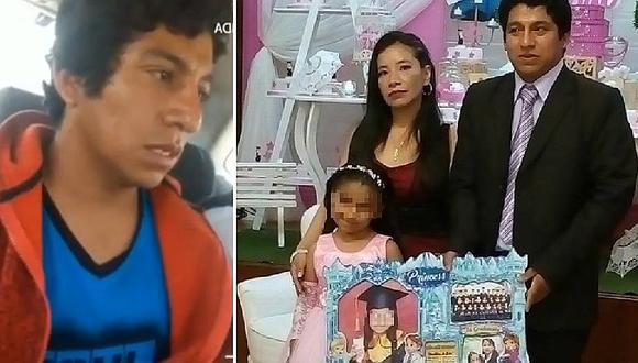 La confesión del asesino de Huaura que mató a madre e hija de cinco años