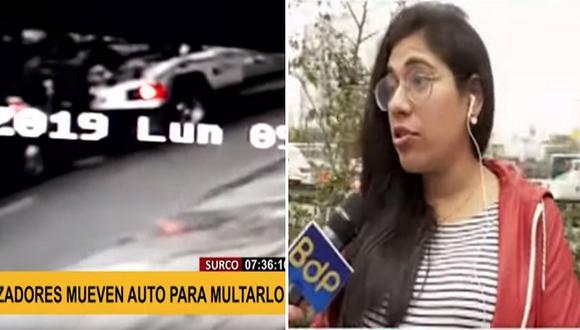 Mujer denuncia que inspectores movieron su vehículo para aplicarle multa│VIDEO