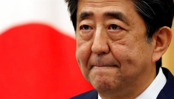 Imagen de archivo del primer ministro de Japón, Shinzo Abe, en una conferencia de prensa en Tokio. (EFE / EPA / KIM KYUNG-HOON / POOL).
