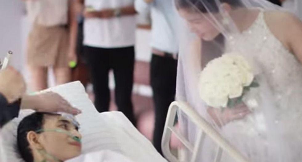 Joven con cáncer terminal murió después de casarse [VIDEO]