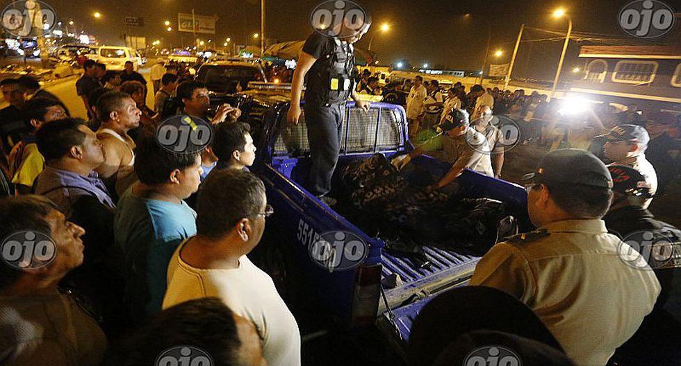 Carabayllo: PNP en aparente estado de ebriedad baleó en la cabeza a cobrador de combi (VIDEO)