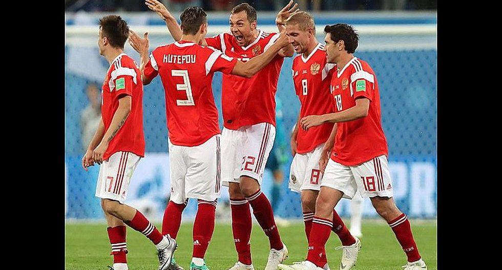 Rusia golea otra vez y ahora le gana por 3-1 a Egipto (VÍDEOS)
