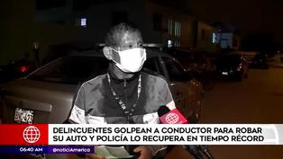 Delincuentes golpean a chofer para robar su vehículo en Carabayllo