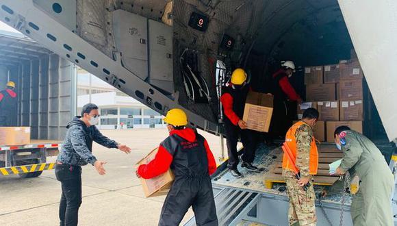 Loreto: los insumos médicos fueron enviados a través de un vuelo proporcionado por el Ministerio de Defensa. (Foto: Produce)
