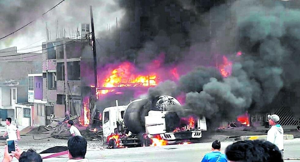 POLICIALES: DEFLAGRACIÓN E INCENDIO EN VILLA EL SALVADOR