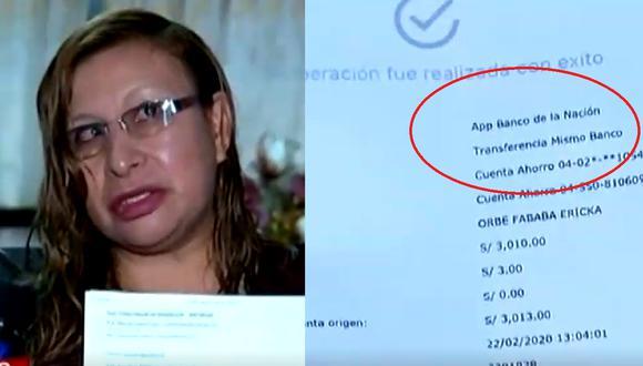 Docente denuncia que le vaciaron S/4,763 de su cuenta bancaria. (Foto captura: Latina)