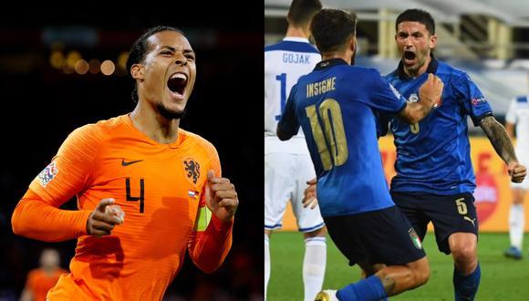 Holanda e Italia se ven las caras luego de mucho tiempo en la UEFA Nations League.