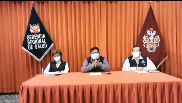 El gerente regional de salud de Arequipa, Cristian Noa, brindó detalles sobre la gestión de la dotación de vacunas contra el COVID-19. (Captura de pantalla)