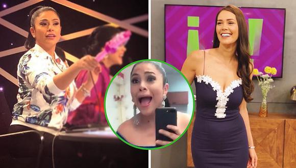 Maricarmen Marín sorprende al lucir un sexy vestido prestado por Karen Schwarz (VIDEO)