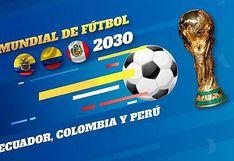 Ecuador propone a Perú y Colombia organizar juntos el Mundial 2030