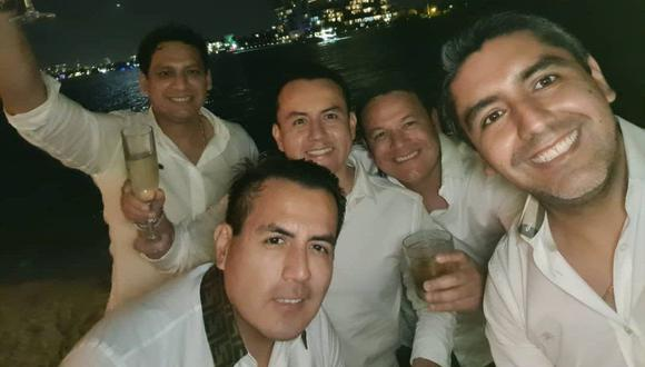 Luis Valdez celebrando la llegada del Año Nuevo en Miami, pese a protestas en su región, La Libertad. (Foto: @richardacuna_)