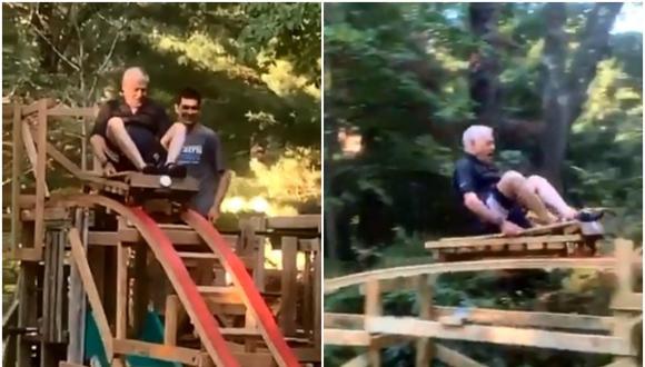 Luego de varios meses, Elliot Ryan culminó la construcción de una montaña rusa en el jardín de la casa de sus abuelos. Su gesto se volvió viral en las redes sociales. (Foto: @NBC10_Sam / Twitter)