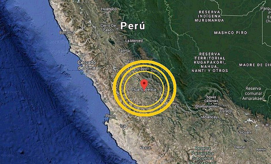 Fuerte sismo de magnitud 5.5 sacudió Huancavelica esta madrugada y se sintió en Lima
