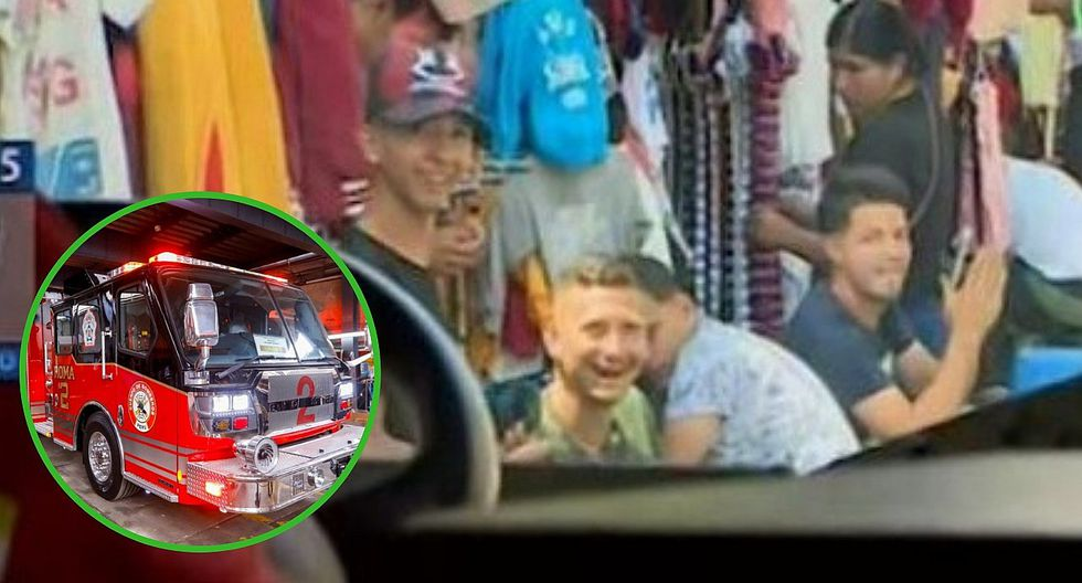 Ambulantes se burlan e insultan a bomberos obstaculizando paso de los vehículos (VIDEO)
