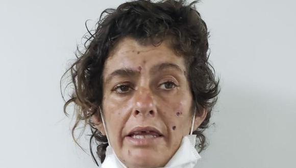 La española Vanessa Cejuelas fue detenida esta mañana por agentes antirrobos de la Dirincri.