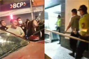 SJM: vecinos acusan a policía de atropellar a dos personas e intentar huir tras accidente   VIDEO