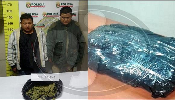 Trabajador de la Municipalidad de Comas fue descubierto con un kilo de droga (FOTO Y VIDEOS)