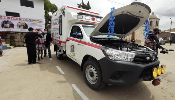Cusco: entregan ambulancia equipada para asistir a pobladores del distrito de Chamaca (Foto referencia).