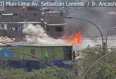 Cercado: reportan incendio en un depósito en Barrios Altos